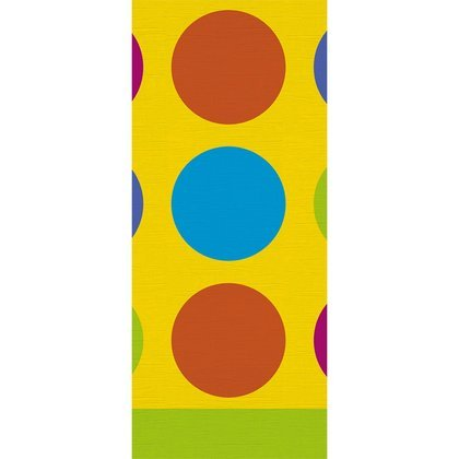 Birthday Fun Dots Table Cover (1 per package) - 1