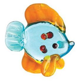 Ganz Miniature Glass Figurine - Blue Fish - 1