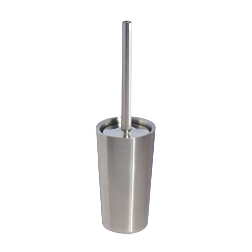 mdesign-toilet-bowl-brush-and-holder-for-bathroom-storage-brushed-stainless-steel