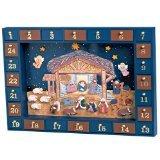 Kurt Adler J3767 Wooden Nativity Advent Calendar with 24 Magnetic Piece