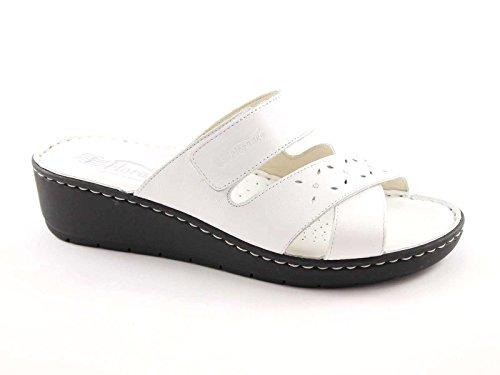 FLORANCE 21006 bianco scarpe donna ciabatte pelle strappo comfort 37
