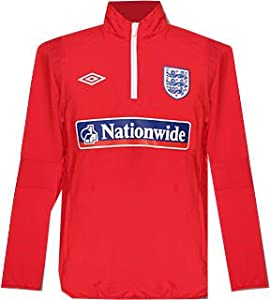 2010-11 England 1/4 Zip Formula 1 Training Drill Top (Red)