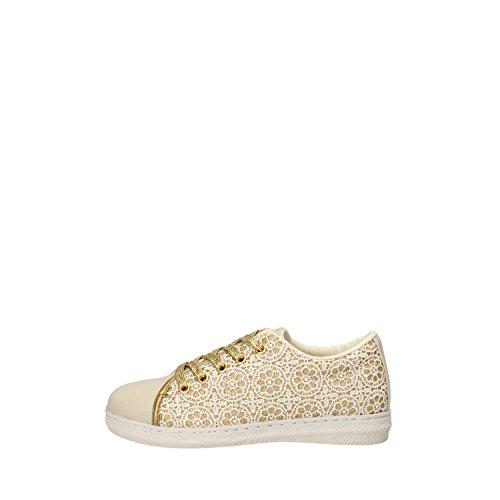 LULU bambina sneakers celeste / fucsia / bianco / oro beige tessuto (31 EU, Oro/beige)