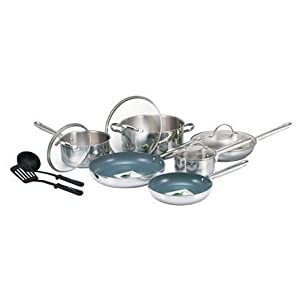 GreenLife Elite 12pc Non-Stick Stainless Steel Cookware Set