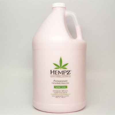 2010 Gallon Hempz Pomegranate Herbal Body Moisturizer Lotion