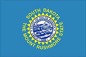 3 x 5 Feet South Dakota Poly - outdoor State Flags Made in US.