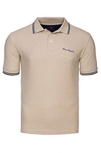 Pierre Cardin con punta uomini di polo Polo Beige, Size:XL