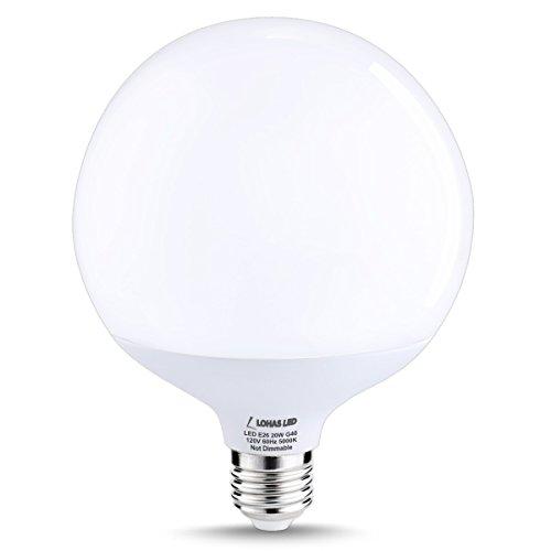 LOHAS-G40-LED-Globe-Bulb-20Watt200W-Equivalent-Edison-Style-LED-Globe-Lights-Daylight-White-5000K-E26-Socket-Decorative-Globe-Light-Bulb-270-Degree-Beam-Angle