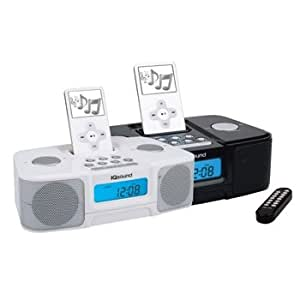new iq sound sc 1307 digital alarm clock radio w ipod docking station mp3 players. Black Bedroom Furniture Sets. Home Design Ideas