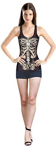 Longwu - T-shirt - Donna Skeleton Taglia unica