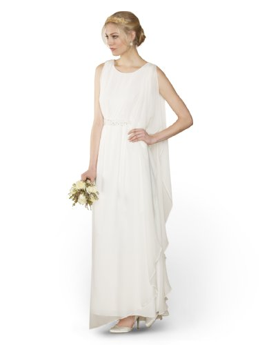 Monsoon Womens Kora Embellished Bridal Dress Size 10 White