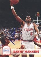 Danny Manning Los Angeles Clippers 1993 Hoops Autographed Hand Signed Trading Card. by Hall of Fame Memorabilia