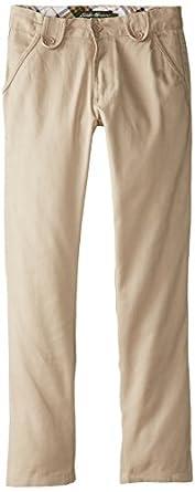 Eddie Bauer Big Girls'  Brushed Twill Skinny Pant, Khaki, 8