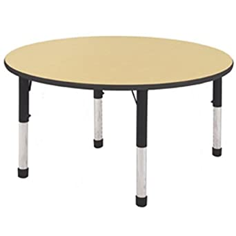 ecr4kids 48 round activity table chunky legs. Black Bedroom Furniture Sets. Home Design Ideas
