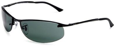 Ray-Ban RB3179 Sidestreet Sunglasses 63 mm, Non-Polarized, Black/Grey-Green