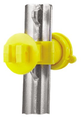 Dare Products 2193-25 Electric Fence Insulator, T-Post, Western Screw Tight, Yellow - Quantity 10