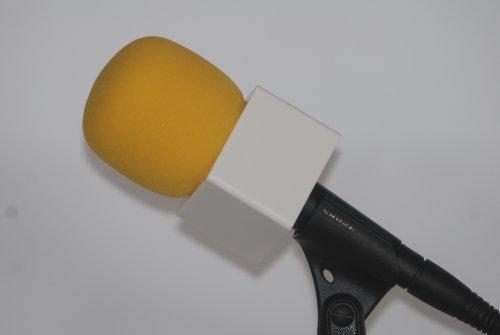 Mic Flag White + Windscreen Yellow