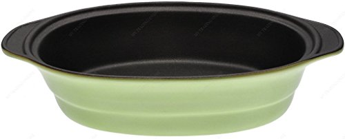 M.V. Trading MV303031 Lasagna/Casserole Gratin Oval Baking Dish, Set of 2, Green