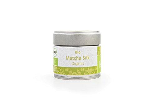 Bio-Matcha-Tee-von-Teelirium-Silk-Organic-Hochwertiges-Matcha-Tee-Pulver-aus-Japan-in-Bio-Qualitt-30g-und-80g-Aromaschutzdose-und-Nachfllpacks-Ideal-fr-Starter-Vegan-Vakuumverpackt-Beste-Qualitt-von-T
