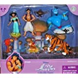 Disney Parks Aladdin with Princess Jasmine Poseable Figurine Set