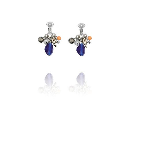 Fiorelli Crystal Stone and Catseye Beaded Clip On Earrings