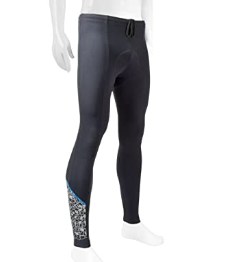 Mens Shattered Glass 3M Reflective Cycling Tights - Made in USA by Aero Tech Designs