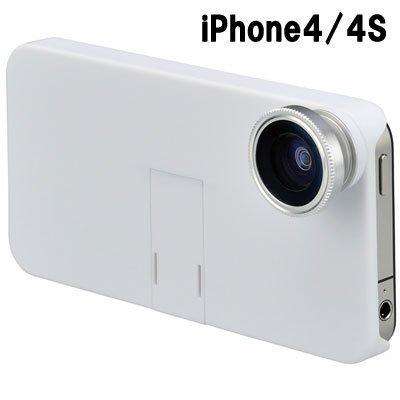 [プリンストン]iPhone4・4S用 カメラキット 魚眼レンズキット ホワイト PIP-CK4SFW