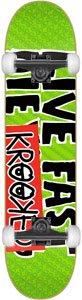 Krooked Live Fast Lg Complete Skateboard - 8.38 Green w/Thunder Trucks