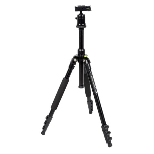 CowboyStudio Complete Alloy 4-Section Tripod with Quick-Release Plate, Ball Head, and Carrying Bag