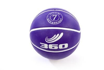 360 Athletics Playground Rubber Basketball, Size 7, Purple - 1