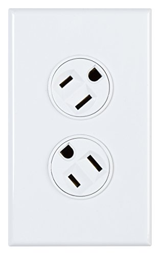 360 Electrical 36010-W Rotating Duplex Outlet, White