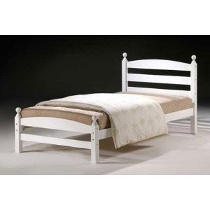 MODERNA Hardwood - Single White Bed £105 - FRAME ONLY