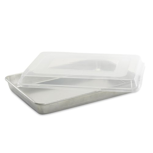 Nordic Ware Natural Aluminum Commercial High-Sided Sheet Cake Pan With Lid
