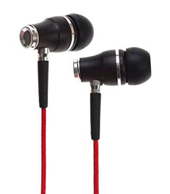 Symphonized NRG Premium Genuine Wood In-ear Noise-isolating Headphones|Earbuds|Earphones with Microphone