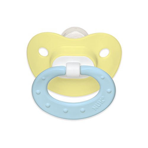 NUK Juicy Puller Silicone Pacifier in Assorted Colors, 0-6 Months
