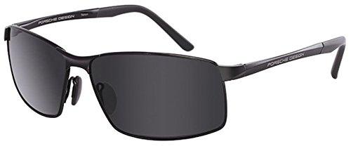 Porsche Design Men's P'8541 P8541 D Dark Gun/Gray Sport Sunglasses 63mm