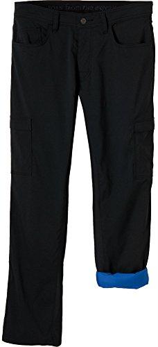 prAna Living Men's Stretch Zion Lined Pant, 32, Black
