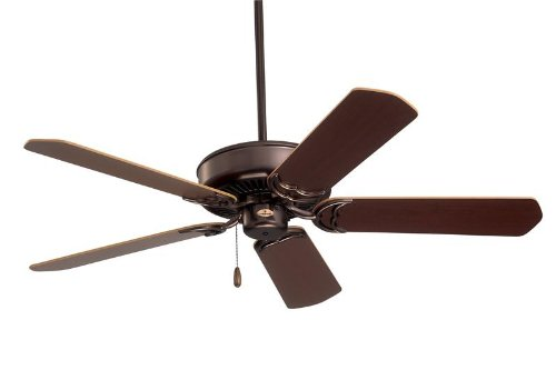Emerson CF755ORB Designer Indoor Ceiling Fan, 52-Inch Blade Span, Oil Rubbed Bronze Finish and Dark Cherry/Medium Oak Blades
