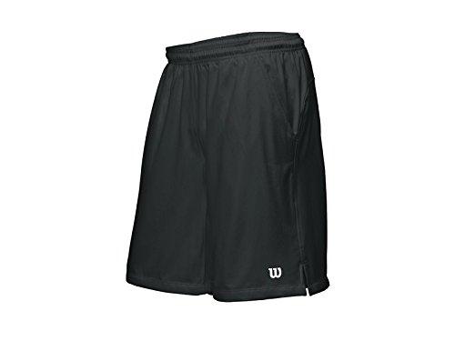 Wilson, Pantaloni corti sportivi Uomo Rush 10 Tennis, Nero (Black), XL