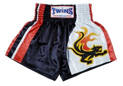 Twins Special Muay Thai Shorts (Fire Tail Tiger) (Large)