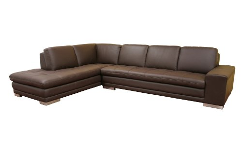 Marvelous Baxton Studio Callidora Brown Leather Sectional Sofa With Pabps2019 Chair Design Images Pabps2019Com