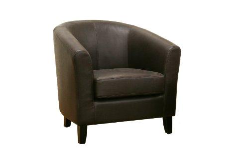 Frederick Dark Brown Leather Club Chair Cheap - cheap price 2012