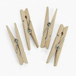 Clothespins (50 Pieces) - Bulk front-349461