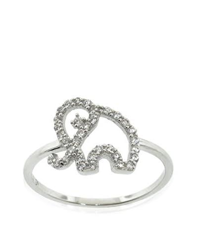 Diamonere Pavé Elephant Ring, Silver