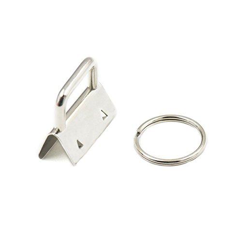 fujiyuan-50-sets-25mm-1-key-fob-hardware-wrist-key-chain-wristlet-sets-with-split-rings-key-rings-fo