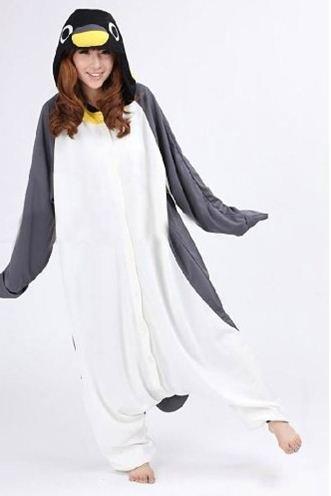 アニマル衣装 ♪フリース着ぐるみ ペンギン パジャマ 【コスチューム コスプレ 大人用 パーティグッズ 】