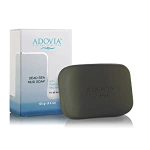 Adovia Natural Dead Sea Mud Soap - Great for Eczema, Psoriasis or Acne!