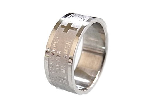 Western fashion ★ cross Bible statement ★ popular stainless steel design ring [ring] * private w FK01 (16)