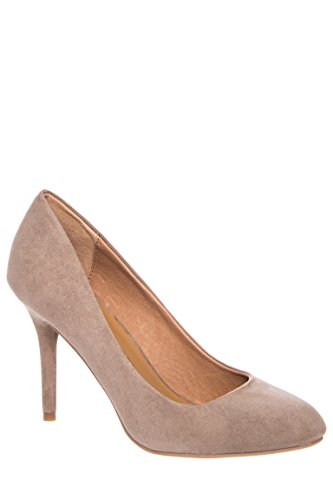 Palace High Heel Toffee Micro Suede Pump