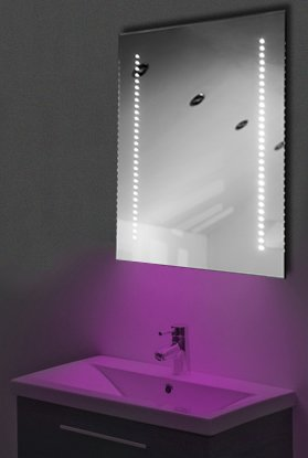 Ambient Ultra-Slim Led Bathroom Mirror With Demister Pad & Sensor K59P